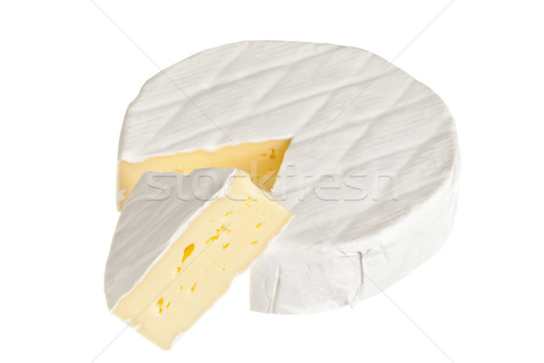 Queijo camembert queijo isolado branco creme Foto stock © ShawnHempel