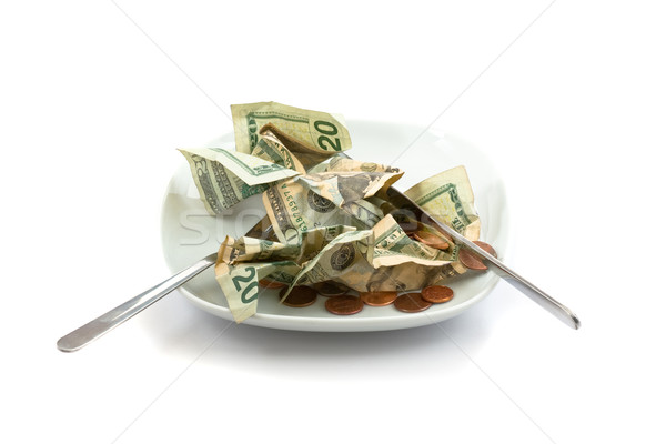 Money salad with dressing of coins Stock photo © ShawnHempel