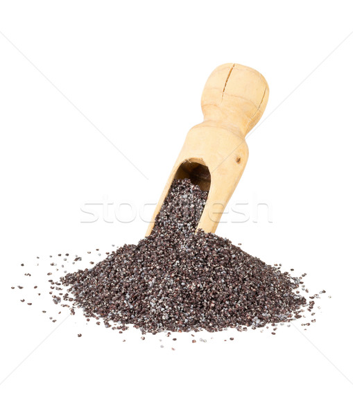 Poppy seeds in wooden scoop Stock photo © ShawnHempel