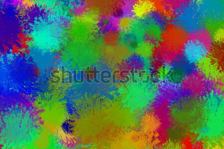 Colorful paint splashes frame filling background element Stock photo © ShawnHempel