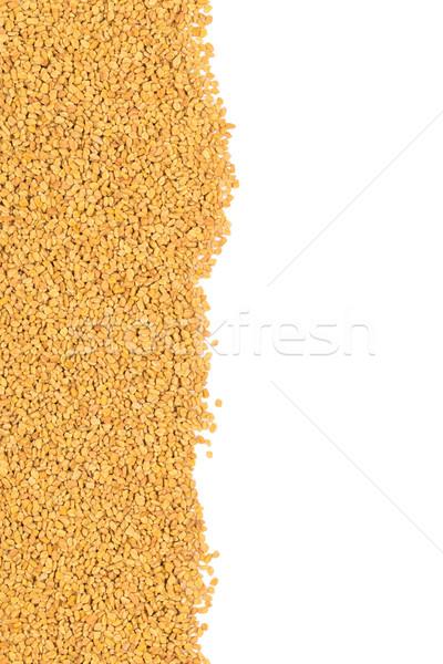 Whole, unprocessed fenugreek (Trigonella foenum-graecumcumin) se Stock photo © ShawnHempel