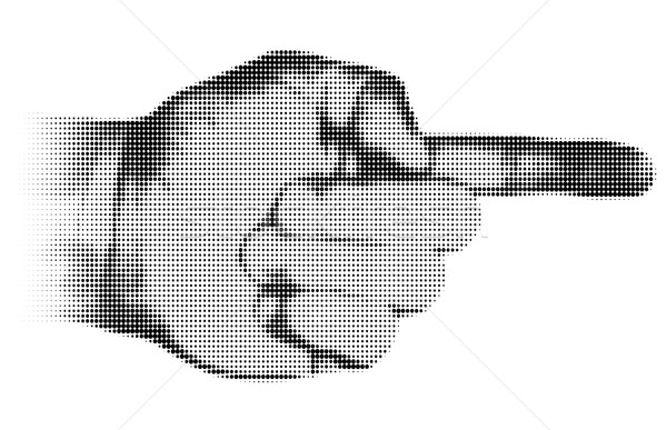 Retro halftone textured hand pointing Stock photo © ShawnHempel