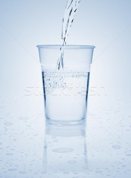 Eau douce tasse bleu eau Splash objet Photo stock © ShawnHempel