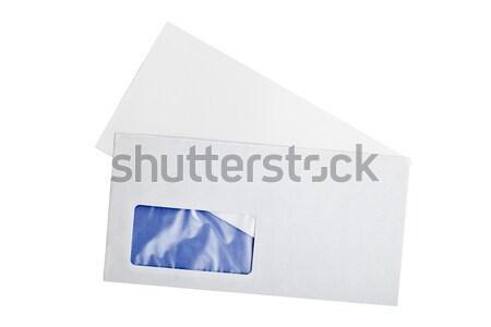 Open lettera busta isolato bianco carta Foto d'archivio © ShawnHempel