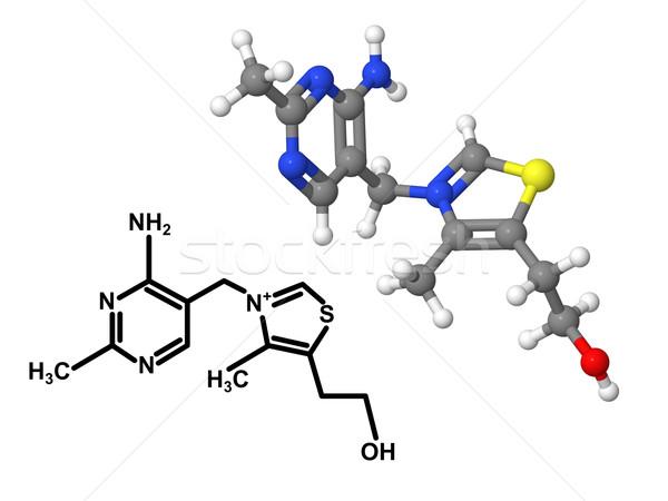 Сток-фото: витамин · химического · формула · изолированный · белый · модель