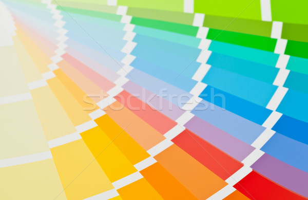 Color chart guide close up Stock photo © ShawnHempel