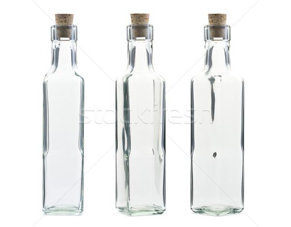 пусто Vintage бутылку пробка различный изолированный Сток-фото © ShawnHempel