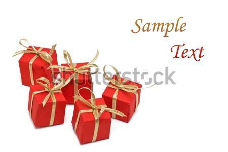Présente rouge papier espace de copie fond Photo stock © ShawnHempel