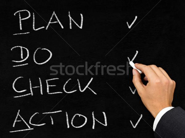 схема написанный доске бизнесмен человека рисунок Сток-фото © ShawnHempel