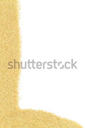 Raw, uncooked amaranth seeds border Stock photo © ShawnHempel