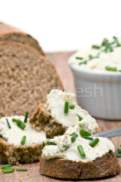 Krem ser świeże chleba Zdjęcia stock © ShawnHempel