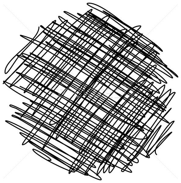 Kaotikus kézzel rajzolt rajz kör izolált tárgy Stock fotó © ShawnHempel