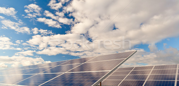 Solar photovoltaics panels Stock photo © ShawnHempel