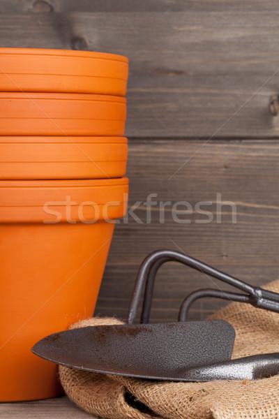 Plant pots and gardening equipment Stock photo © ShawnHempel