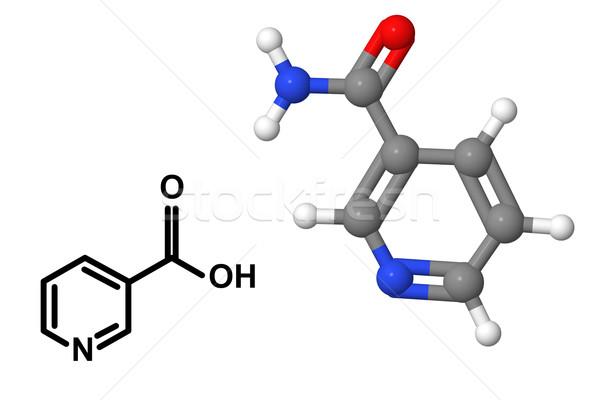 Vitamina químicos fórmula aislado blanco modelo Foto stock © ShawnHempel