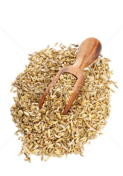 Rezene tohum ahşap kepçe kurutulmuş Stok fotoğraf © ShawnHempel