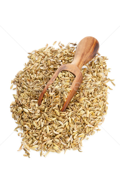 Fennel seed heap with wooden scoop Stock photo © ShawnHempel