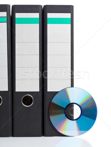 Elektronische gegevensopslag ring compact disc witte digitale Stockfoto © ShawnHempel