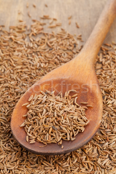 Stock photo: Caraway seeds in spoon
