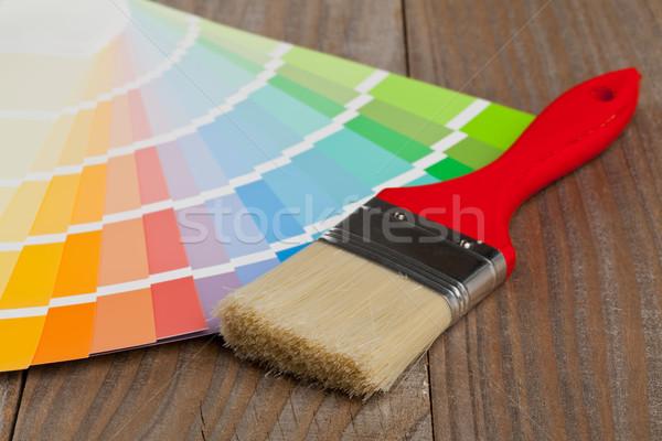Colore grafico guidare pennello legno Foto d'archivio © ShawnHempel