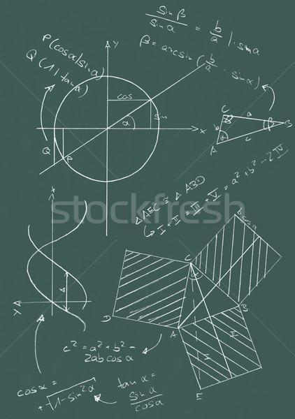 Math lavagna formule grafica scuola iscritto Foto d'archivio © ShawnHempel