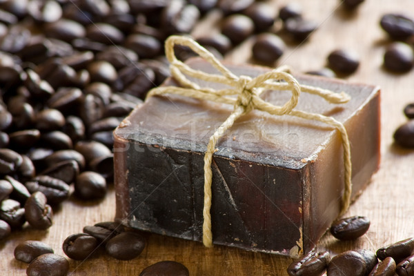 Coffee scented soap Stock photo © ShawnHempel