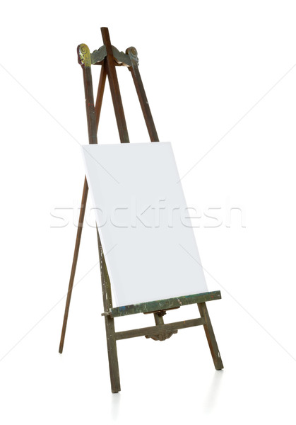 Old easel with blank canvas template Stock photo © ShawnHempel