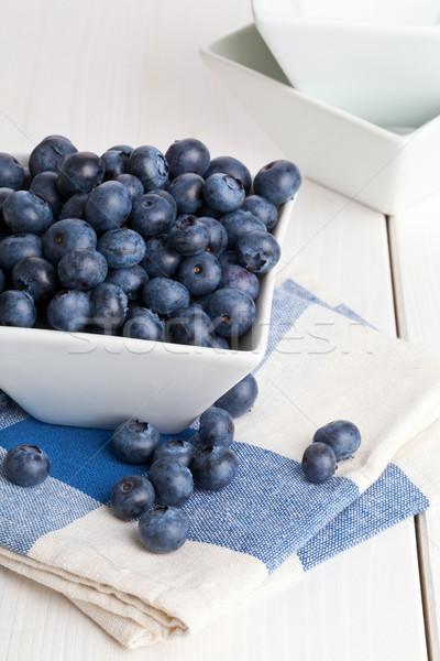 Blueberries in bowl Stock photo © ShawnHempel