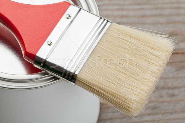 Paint brush and can Stock photo © ShawnHempel