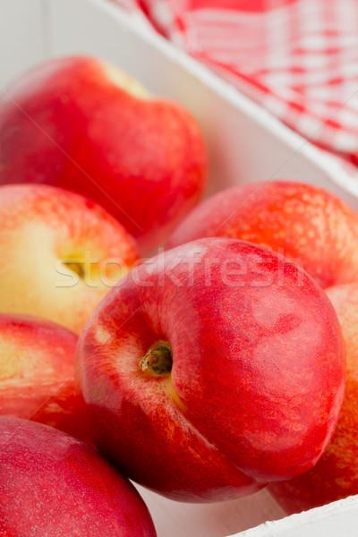 Egész fehér láda csoport fából készült gyümölcs Stock fotó © ShawnHempel