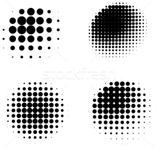 Collection of three dimensional halftone shaded spheres Stock photo © ShawnHempel
