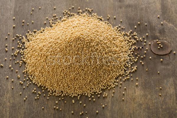 Hoop ruw zaden koken vers Stockfoto © ShawnHempel