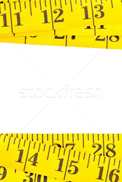 Giallo misurazione nastro confine bianco texture Foto d'archivio © ShawnHempel