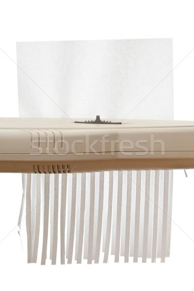 Shredding paper Stock photo © ShawnHempel