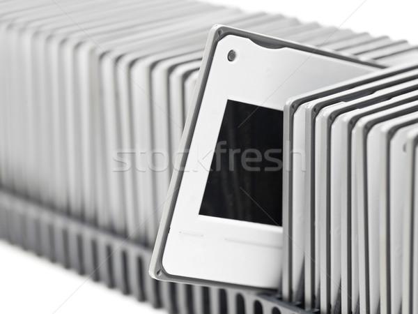 Projetor bandeja transparência filme quadro preto Foto stock © ShawnHempel