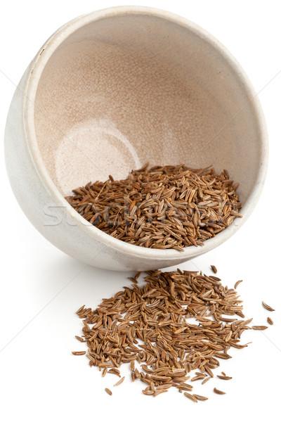 Kimyon tohumları çanak kurutulmuş kimyon küçük Stok fotoğraf © ShawnHempel