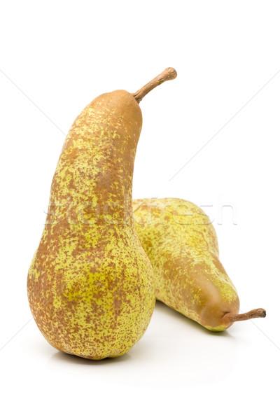 Two whole, uncut 'abate fetel' pears Stock photo © ShawnHempel
