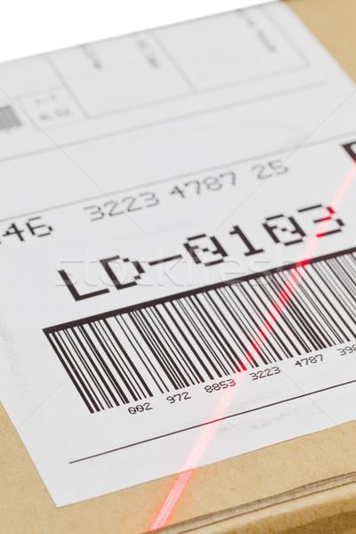Barcode scansione spedizione etichetta finestra automatico Foto d'archivio © ShawnHempel