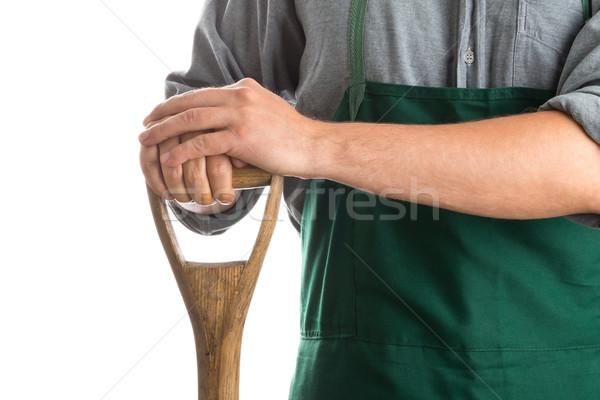 Man holding spade Stock photo © ShawnHempel