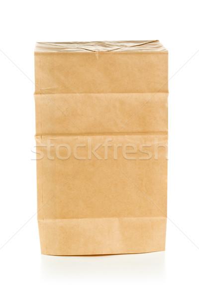 Geri dönüşümlü ambalaj kâğıdı çanta ters beyaz temizlemek Stok fotoğraf © ShawnHempel