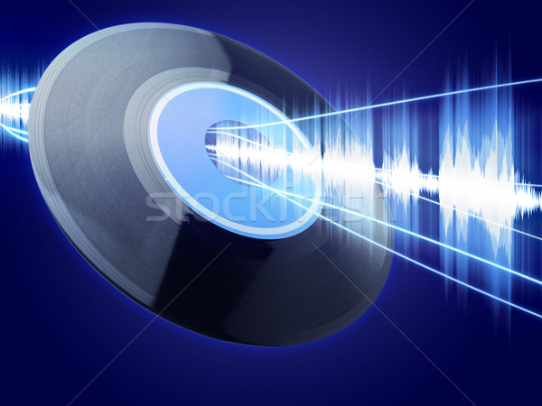 Digitale vintage vinyl record emissie Stockfoto © ShawnHempel
