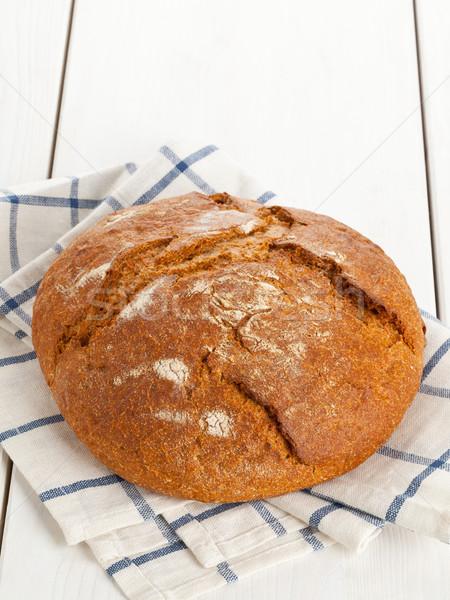 буханка хлеб таблице все свежие белый Сток-фото © ShawnHempel