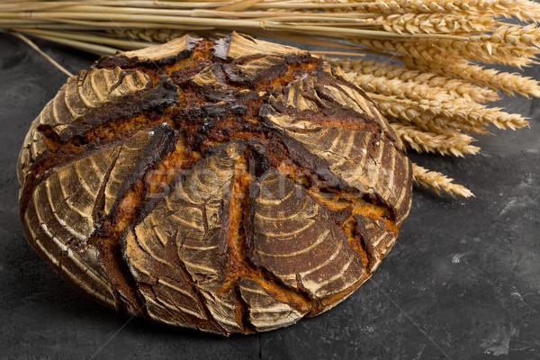 Main pain pain blé oreilles maison Photo stock © ShawnHempel