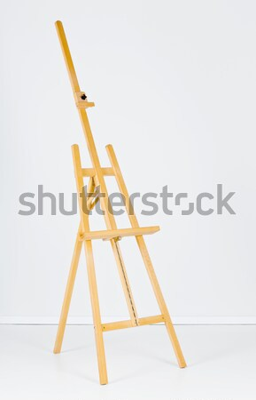 Easel with blank canvas template Stock photo © ShawnHempel