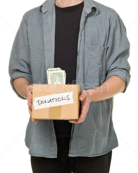 человека пожертвование доллара Сток-фото © ShawnHempel