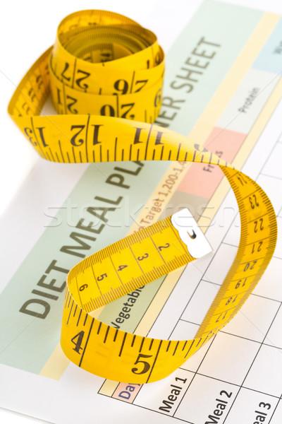 диеты измерение лента еды планирования Сток-фото © ShawnHempel