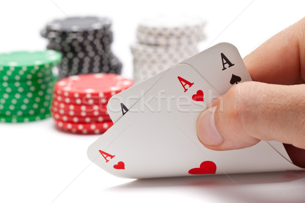 Pocket aces Stock photo © ShawnHempel