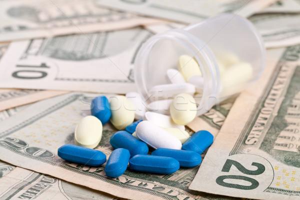 Stockfoto: Gezondheidszorg · verschillend · pillen · capsules · kosten