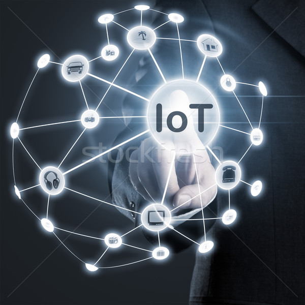 Stock photo: Internet of things activation