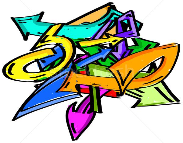 Graffiti arrows element Stock photo © ShawnHempel